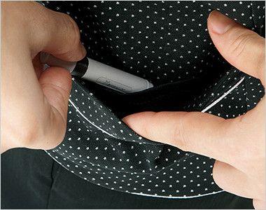 [在庫限り/返品交換不可]LV1745 BONMAX/コンフィー ベスト ドット 挟み込みポケット(右側小分けポケット付き)