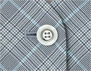 BONMAX LV1749 [春夏用]プラティーヌ ベスト チェック ボタン部分