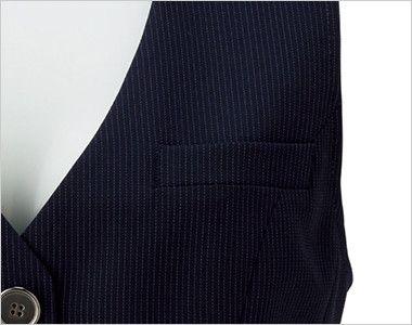 BONMAX LV1751 [通年]レジェール ベスト ストライプ ポケット付き