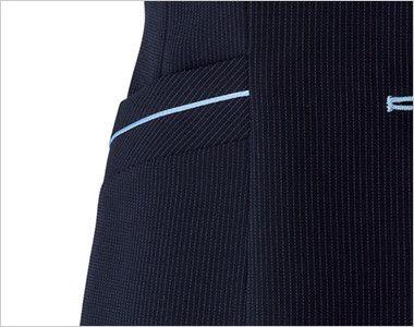 BONMAX LV1751 [通年]レジェール ベスト ストライプ 挟み込みポケット