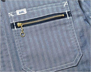 Lee LWB03001 ジップアップジャケット(女性用) ジッパー付き