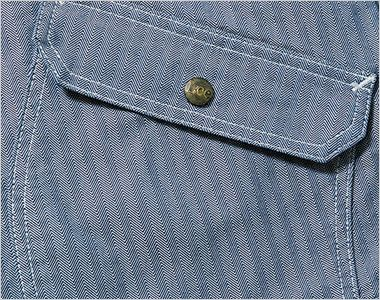 LWB03001 Lee ジップアップジャケット(女性用) 物が落ちにくいフラップ付き