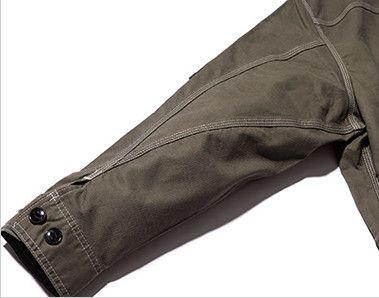Lee LWB03002 [通年]ジップアップジャケット(女性用) 立体的な3枚袖仕様で、調節可能なボタン付き