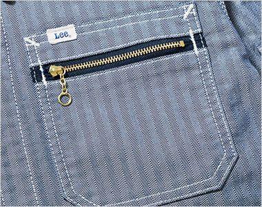 Lee LWB06001 ジップアップジャケット(男性用) ジッパー付きのポケット