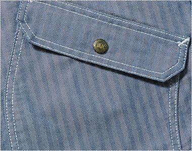 Lee LWB06001 ジップアップジャケット(男性用) 物が落ちにくいフラップ付きのポケット