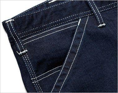 Lee LWP63001 ペインターパンツ(女性用) 出し入れしやすい斜めポケット。右側にはコインポケット付き。