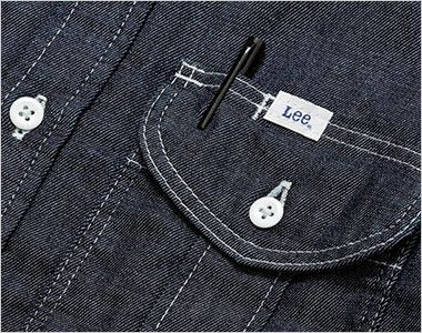 Lee LWS43001 レディースワーク長袖シャツ(女性用) ポケットにあるペン挿し口