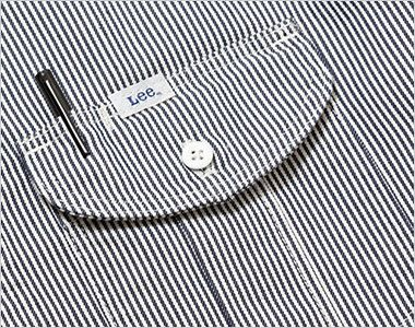 Lee LWS43002 レディースワーク半袖シャツ(女性用) ポケットにあるペン挿し口