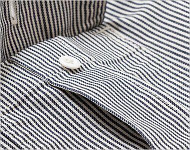 Lee LWS43002 レディースワーク半袖シャツ(女性用) プリーツ入りで立体的なLee象徴的な胸ポケット