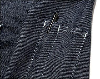 Lee LWS46001 メンズワーク長袖シャツ(男性用) ペン挿しポケット