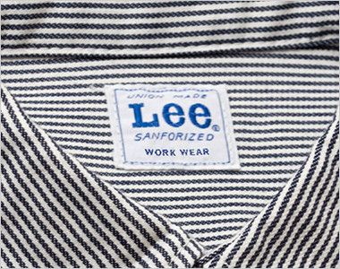 Lee LWS46002 メンズワーク半袖シャツ(男性用) Leeワークウェアオリジナルブランドネームタグ
