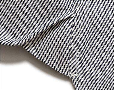Lee LWS46002 メンズワーク半袖シャツ(男性用) Lee独特のガゼット(マチ付き)