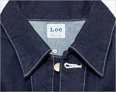 Lee LWU39001 [通年]ユニオンオール(長袖ツナギ)(男女兼用) ボタンを開けると開襟スタイルに