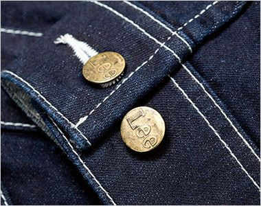 Lee LWU39001 [通年]ユニオンオール(長袖ツナギ)(男女兼用) 調節可能な袖口のダブルボタン