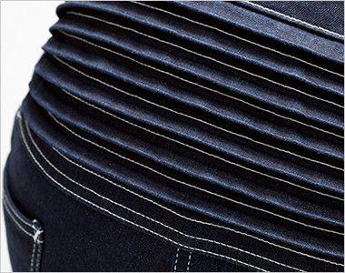 Lee LWU39001 [通年]ユニオンオール(長袖ツナギ)(男女兼用) 腰部にはハードな作業にフレキシブルにフィットする伸縮性のあるアコーディオンプリーツ