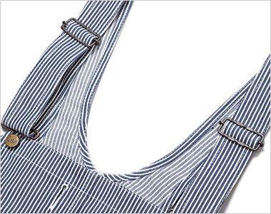 Lee LWU39002 オーバーオール(男女兼用) オーバーオールの特徴である調節可能な肩ひも
