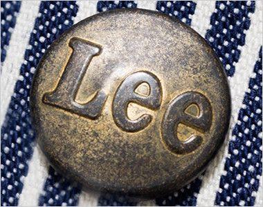 Lee LWU39002 オーバーオール(男女兼用) Leeロゴ入りのオリジナルボタン