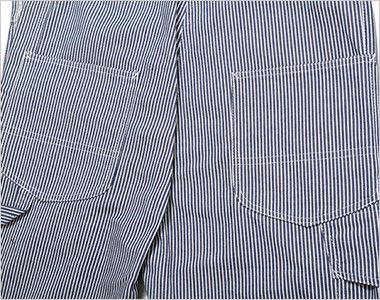 Lee LWU39002 オーバーオール(男女兼用) 補強布付の後ろポケット