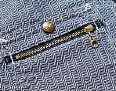 Lee LWV19001 ジップアップベスト(男女兼用) ジッパーも付いたダブルポケット