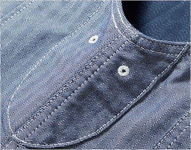 Lee LWV19001 ジップアップベスト(男女兼用) 脇下にある通気用の菊穴