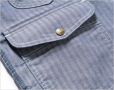 Lee LWV19001 ジップアップベスト(男女兼用) 深さのある左右のフラップ付ポケット