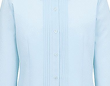 BONMAX RB4140 [通年]リサール 知的な雰囲気を醸し出す胸元のピンタック 長袖ブラウス すっきりしたピンタック入り