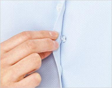BONMAX RB4148 [通年]汗冷えやベタつきを軽減する長袖ニットブラウス 隙間から中が見えない内掛けボタン