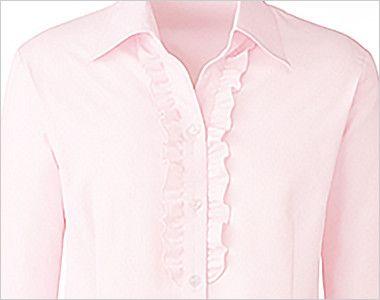 [在庫限り/返品交換不可]RB4150 BONMAX/リサール エレガントな胸元のフリルが華やかな長袖ブラウス 前立てのフリルで華やかな印象