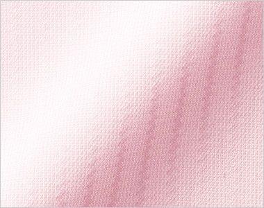 BONMAX RB4154 [通年]パウダリーな風合いで優しい肌触りの長袖ニットブラウス(リボン付き) 細かいシャドーストライプの陰影が上品で知的な印象