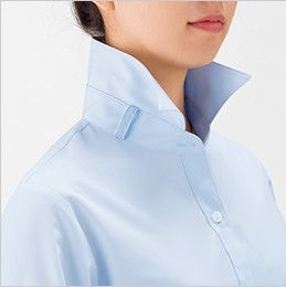 RB4157 BONMAX/リサール もっと!すごいブラウス 着用時のストレスを軽減する長袖ブラウス 衿下のサイドにループが付いています