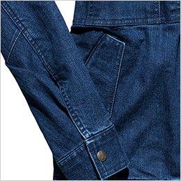 RJ0904 ROCKY デニムフライトジャケット(男女兼用) 落下防止に優れたフラップ付き腰ポケット