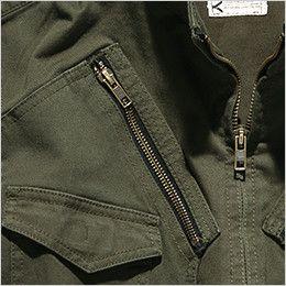 ROCKY RJ0905 ツイルフライトジャケット(男女兼用) ファスナーポケット