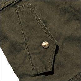 ROCKY RJ0905 ツイルフライトジャケット(男女兼用) 落下防止に優れたフラップ付き腰ポケット