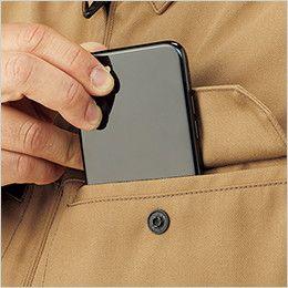RJ0910 ROCKY ブルゾン(男女兼用) ツイル スマートフォンなどを収納しやすい二重構造