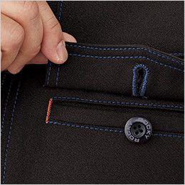 RJ0913 ROCKY ブルゾン(男女兼用) バックツイル 胸ポケットはペンホール付きフラップを使用し、落下防止と機能性を両立。