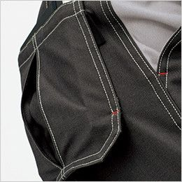 RP6910 ROCKY ノータックパンツ(男女兼用) オックスフォード ステッチが印象的な、収納力のあるフラシデザインのボックスプリーツポケット