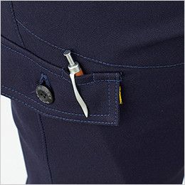 RP6913 ROCKY ライダースパンツ(男女兼用) バックツイル ペンホール付きフラップを使用し、落下防止と機能性を両立