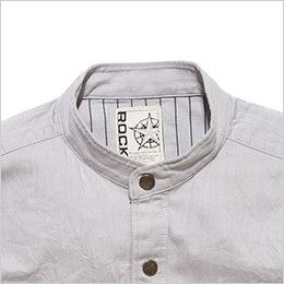 RS4301 ROCKY スタンドカラーシャツ(女性用) 首回りをすっきりと見せるスタンドカラー