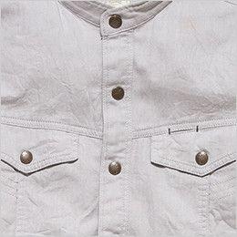 RS4301 ROCKY スタンドカラーシャツ(女性用) 丈夫なダブル前立て