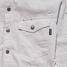 RS4301 ROCKY スタンドカラーシャツ(女性用) 左胸だけペン差しポケットがあり