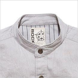 RS4601 ROCKY スタンドカラーシャツ(男性用) 首回りをすっきりと見せるスタンドカラー