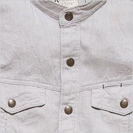 RS4601 ROCKY スタンドカラーシャツ(男性用) 丈夫なダブル前立て