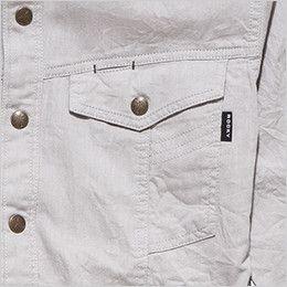 RS4601 ROCKY スタンドカラーシャツ(男性用) 左胸だけペン差しポケットがあり