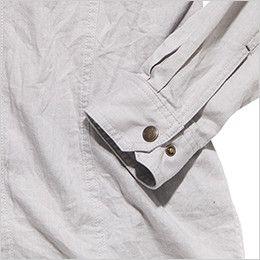 RS4601 ROCKY スタンドカラーシャツ(男性用) おしゃれなヴィンテージ感あるボタン