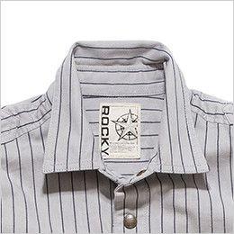 RS4602 ROCKY ワークシャツ(男性用) 角ばったデザインが印象的なデザイン