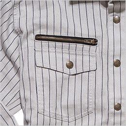 RS4602 ROCKY ワークシャツ(男性用) ファスナー付き