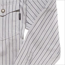 RS4602 ROCKY ワークシャツ(男性用) 腕の上げ下げがしやすい切り替えデザイン