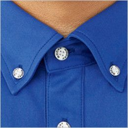 RS4903 ROCKY 長袖トリコットシャツ(男女兼用) ニット トラッドでスポーティな印象のボタンダウンで清潔感を演出