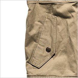ROCKY RV1902 ツイルフライトベスト(男女兼用) 落下防止に優れたフラップ付き腰ポケット