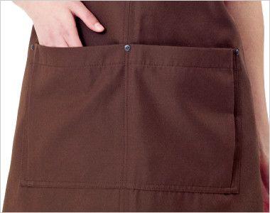03197 BONUNI(ボストン商会) 胸当てH型エプロン(男女兼用) キャンバス ポケット